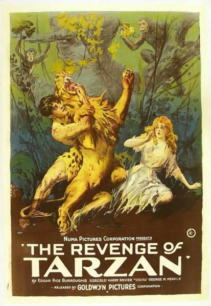 Nostalgia Drawing - The Revenge Of Tarzan 1920 by Mountain Dreams