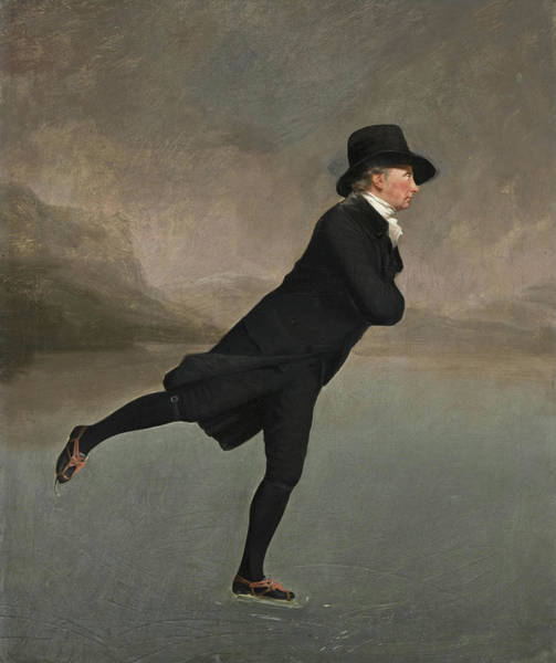 Wall Art - Painting - The Reverend Robert Walker Skating On Duddingston Loch by Sir Henry Raeburn