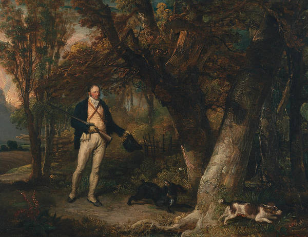 Ward Painting - The Reverend Thomas Levett And Favourite Dogs by James Ward