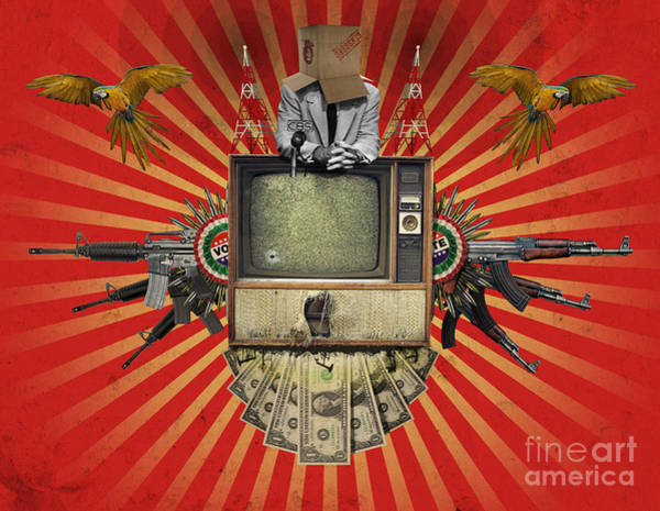 Digital Art - The Revolution Will Not Be Televised by Rob Snow