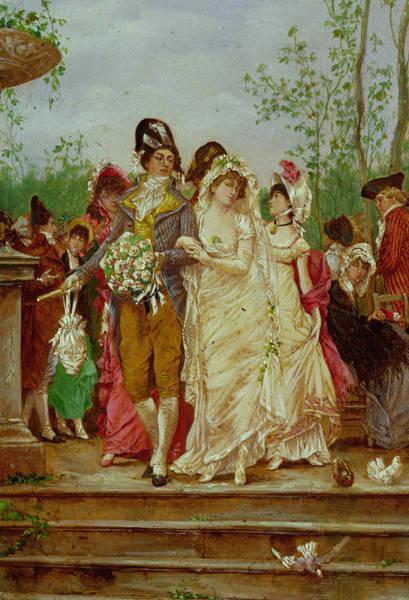 Bridesmaids Painting - The Revolutionist's Bride, Paris, 1799 by Frederik Hendrik Kaemmerer