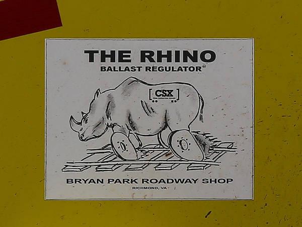 Photograph - The Rhino Ballast Regulator by Dart and Suze Humeston