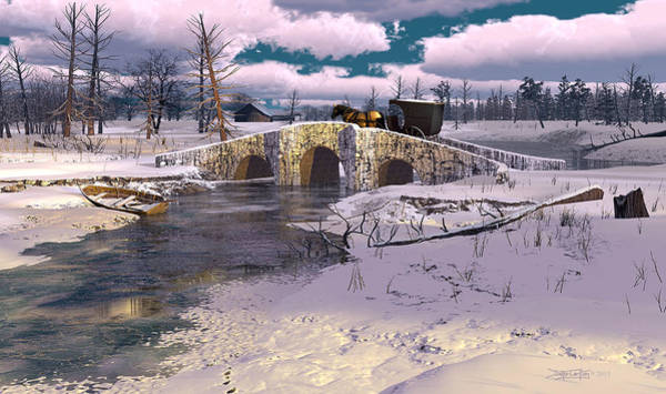 Digital Art - The Rhythm Of Frost by Dieter Carlton