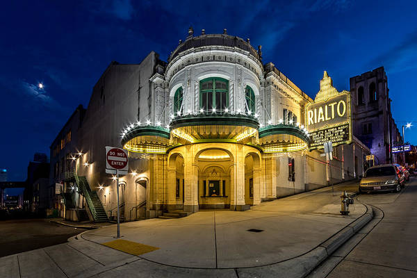 Photograph - The Rialto Theater - Historic Landmark by Rob Green