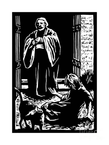 Painting - The Rich Man And Lazarus - Jlrml by Julie Lonneman