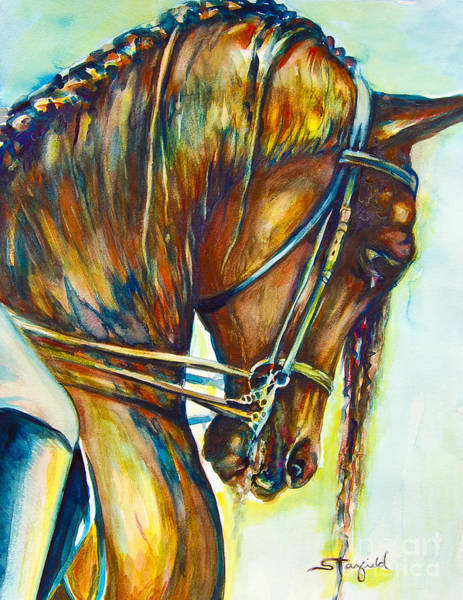 Horsemanship Painting - The Ride 2 by Johnnie Stanfield