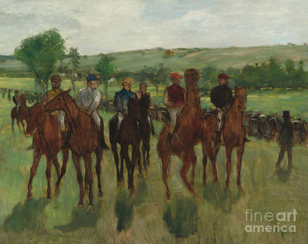 Edgar Degas Painting - The Riders, 1885 by Edgar Degas