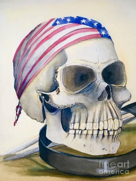Painting - The Rider's Skull by Mastiff Studios