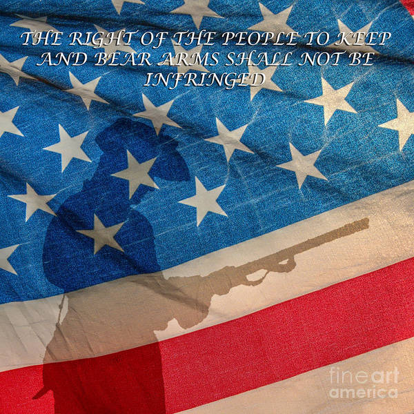 Declaration Of Independence Digital Art - The Right To Keep And Bear Arms by Randy Steele