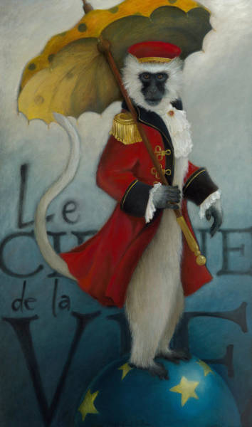 Circus Painting - The Ringmaster by Katherine DuBose Fuerst