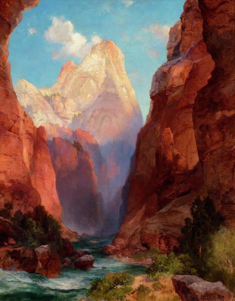 Wall Art - Painting - The Rio Virgin, Southern Utah by Thomas Moran