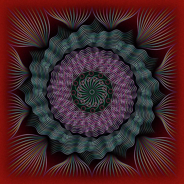 Digital Art - The Rippling Ribbons Of Symmetry by Becky Titus