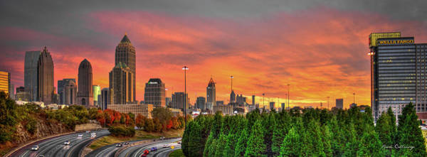 I-75 Photograph - The Rise Of Money Atlanta Autumn Sunset by Reid Callaway