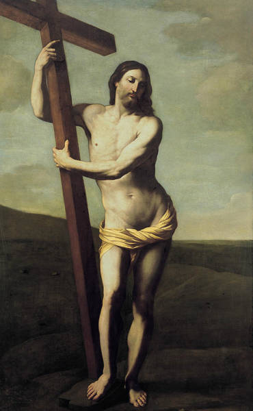 16th Century Wall Art - Photograph - The Risen Christ Embraced The Cross by Guido Reni