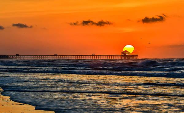 Photograph - The Rising Sun Folly Beach Sc by Donnie Whitaker