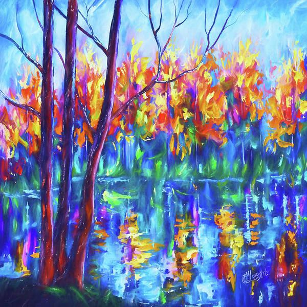 Digital Art - The River Song by OLena Art - Lena Owens
