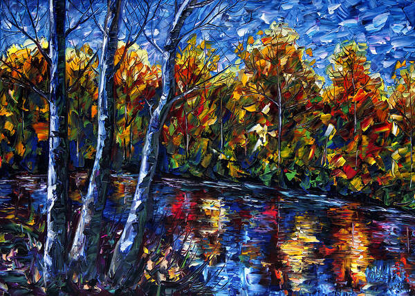 Painting - The River Song  by OLena Art Brand