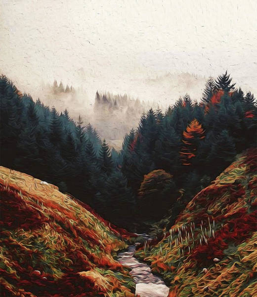 Painting - The River Through The Forest by Andrea Mazzocchetti