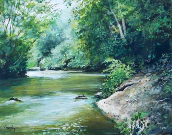 Painting - The River by William Brody