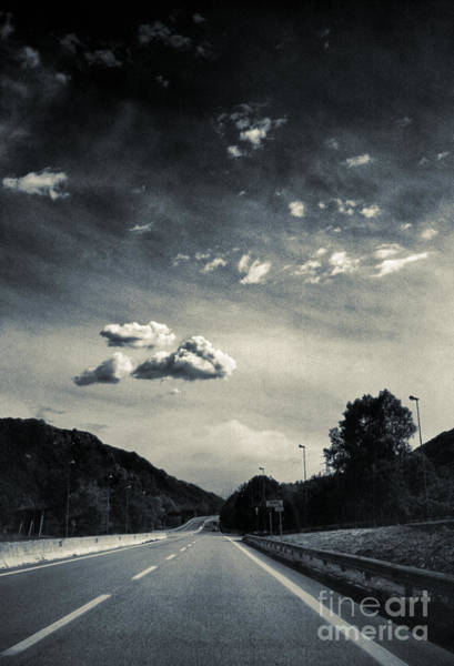 Photograph - The Road And The Clouds by Silvia Ganora