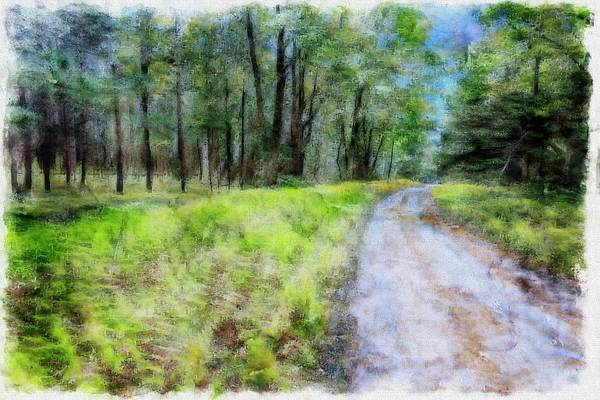 Digital Art - The Road Of Life.the Beginning We Know ,the Journey And The End Are Unknown. by Rusty R Smith