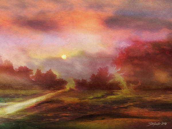 Painting - The Road by Stefano Popovski