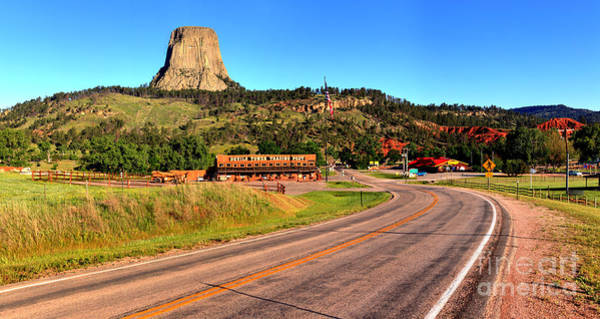 Photograph - The Road To Devils Tower by Adam Jewell