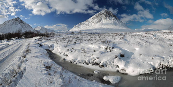 Photograph - The Road To Glen Etive In Winter - Panorama by Maria Gaellman
