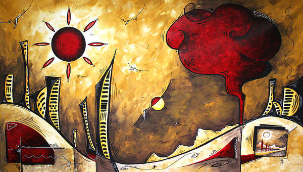 Upbeat Painting - The Road To Life Original Madart Painting by Megan Duncanson