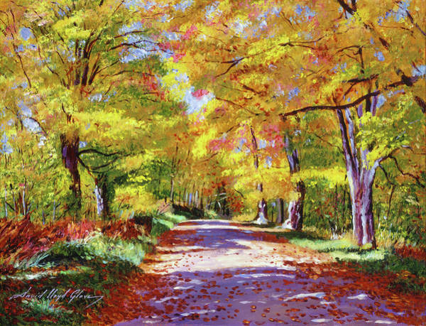 Wall Art - Painting - The Road To My Future by David Lloyd Glover