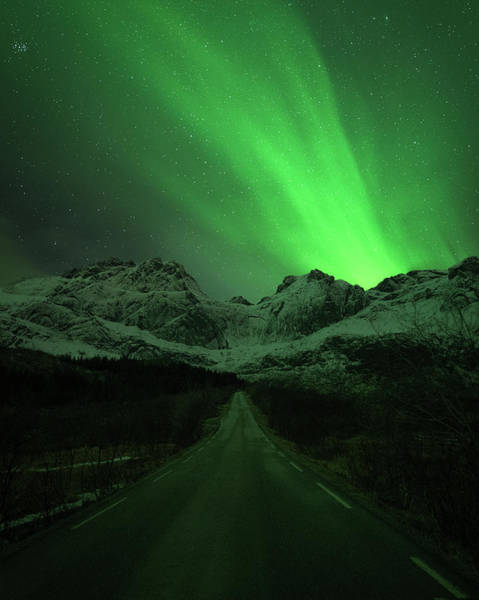 Dark Green Wall Art - Photograph - The Road To Nusfjord by Tor-Ivar Naess