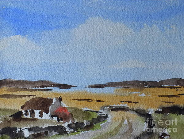 Painting - The Road To Omey Island, Galway by Val Byrne