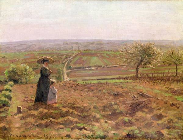 Wall Art - Painting - The Road To Rouen by Camille Pissarro