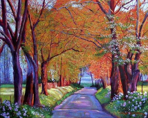 Wall Art - Painting - The Road To Silence by David Lloyd Glover