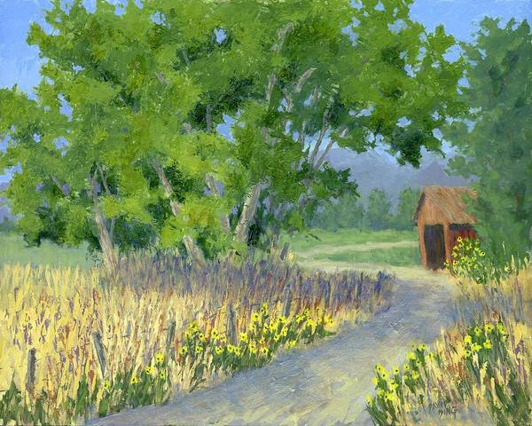 The Road To The Back Field Art Print
