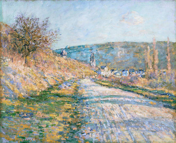 Vetheuil Wall Art - Painting - The Road To Vetheuil 1879 by Claude Monet
