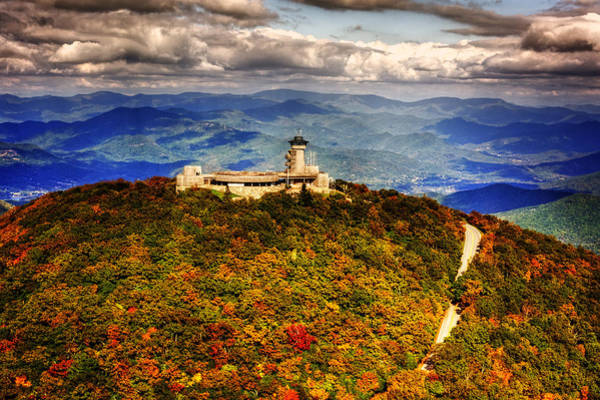 Bald Mountain Photograph - The Road Up To Brasstown Bald by Greg and Chrystal Mimbs