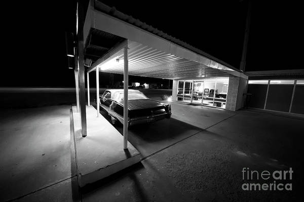Wall Art - Photograph - The Roadside Motel In Black And White by Twenty Two North Photography