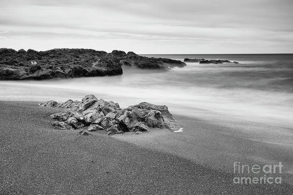 Wall Art - Photograph - The Rock And Beach by Masako Metz