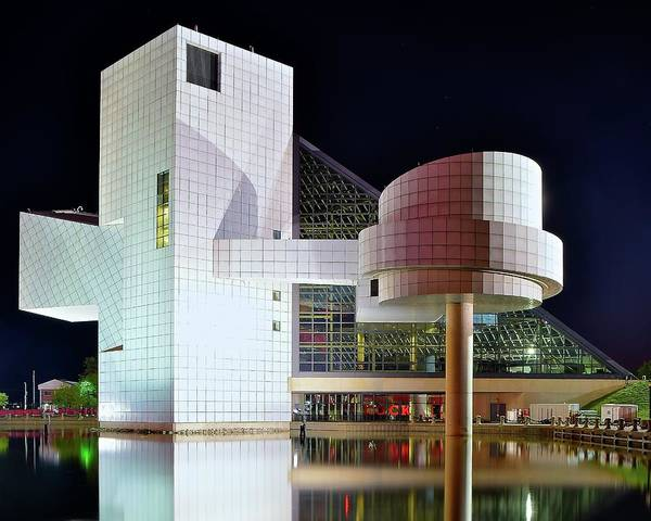 Wall Art - Photograph - The Rock And Roll Hall Of Fame by Frozen in Time Fine Art Photography