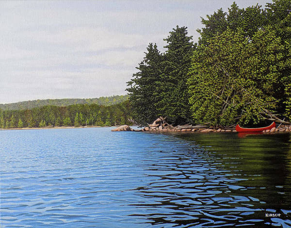 Painting - The Rock At Goldstein's Moose Lake by Kenneth M Kirsch
