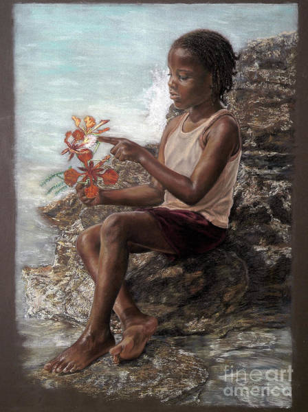 Pastel - The Rock Garden by Roshanne Minnis-Eyma