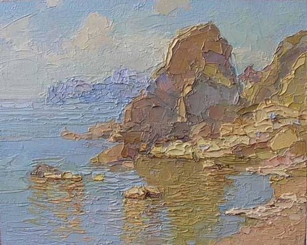 Russian Impressionism Wall Art - Painting - The Rock by Gregory Gamaley