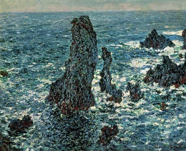 Wall Art - Painting - The Rocks At Belle Ile by Claude Monet