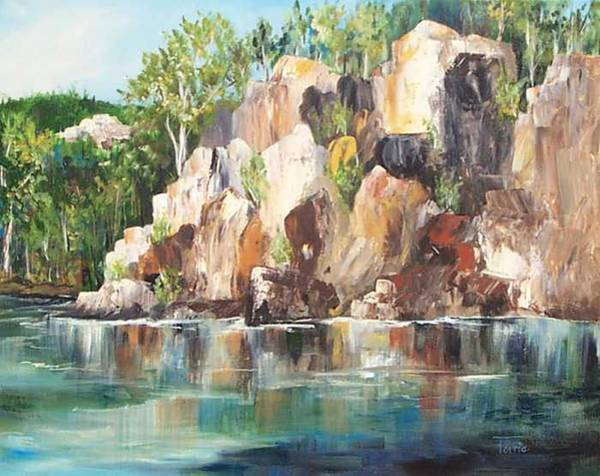 Wall Art - Painting - The Rocks Of Lake Lure - Sold by Torrie Smiley