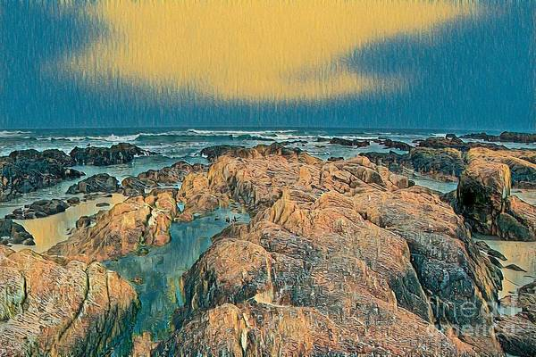 Digital Art - The Rocky Coast by Joe Lach