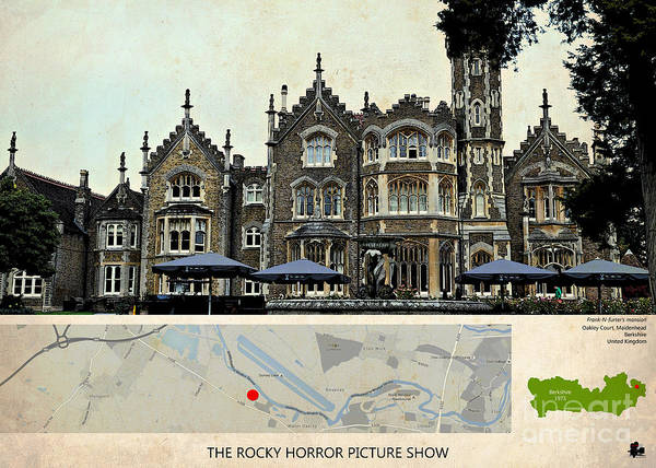 Wall Art - Painting - The Rocky Horror Picture Show Film Locations, Maidenhead, Berkshire by Drawspots Illustrations