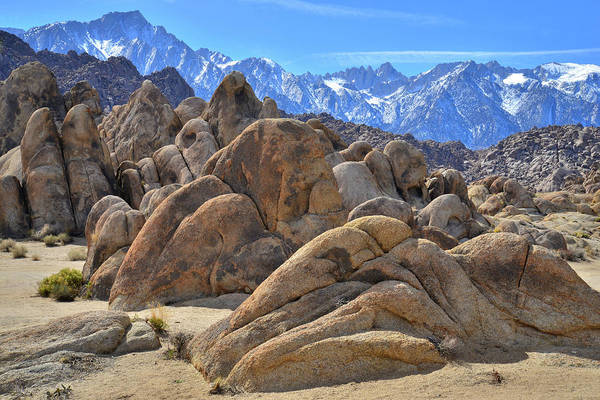 Photograph - The Rolling Alabama Hills Of California by Ray Mathis