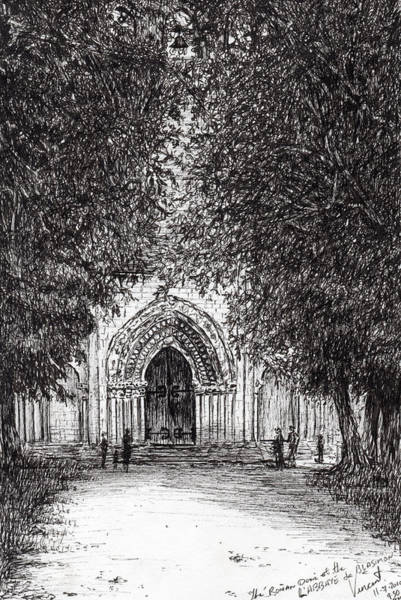 Ancient Drawing - The Roman Door by Vincent Alexander Booth