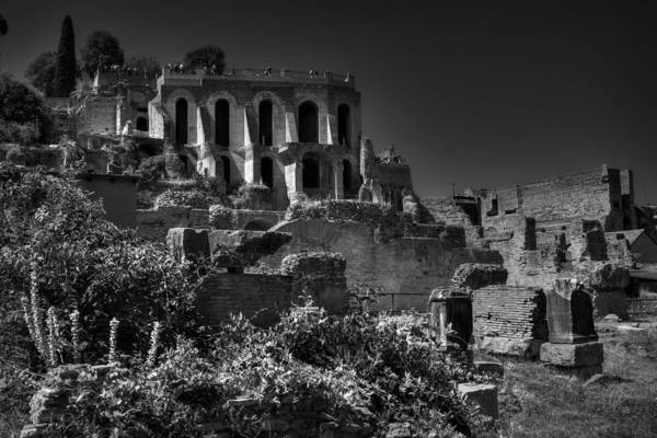 Photograph - The Roman Forum 001 Bw by Lance Vaughn